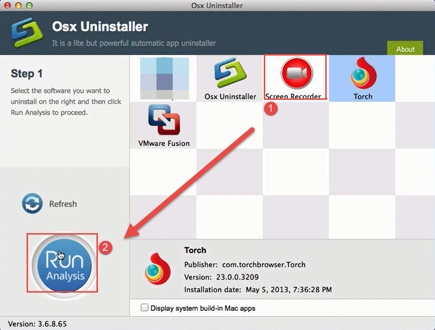uninstall Torch Browser with Osx Uninstaller