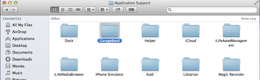 Uninstall and Remove Apple GarageBand from Mac Computer