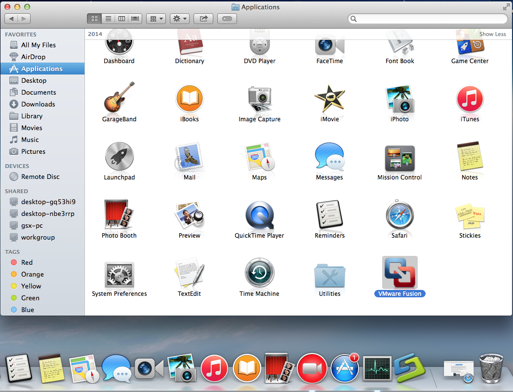 vmware fusion remove windows applications from mac