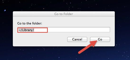 how to go to library on mac