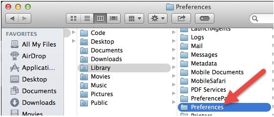 Preferences folder