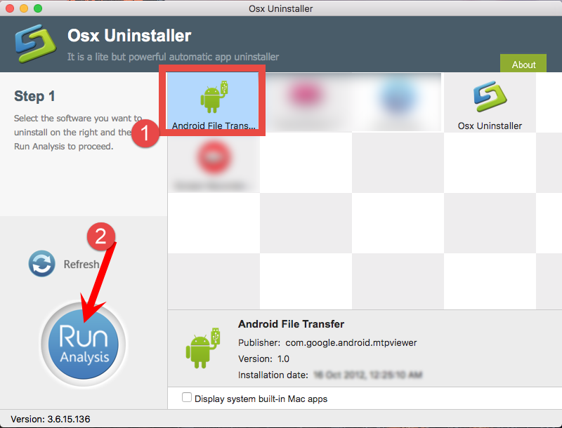 Uninstall Android File Transfer using Osx Uninstaller (1)