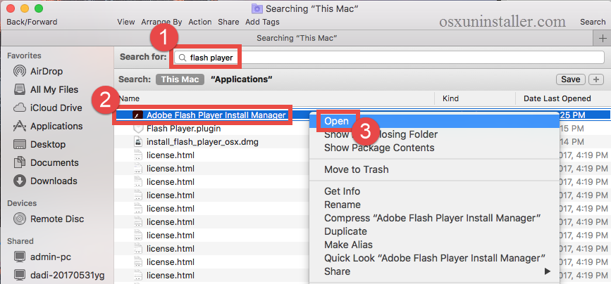 how to uninstall Adobe Flash Player for Mac - osxuninstaller (1)