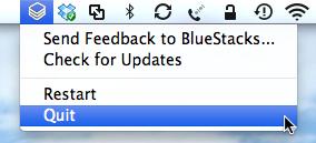 Mac OS Quit BlueStacks