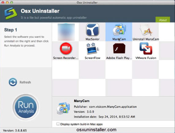 uninstall_ManyCam with Osx Uninstaller