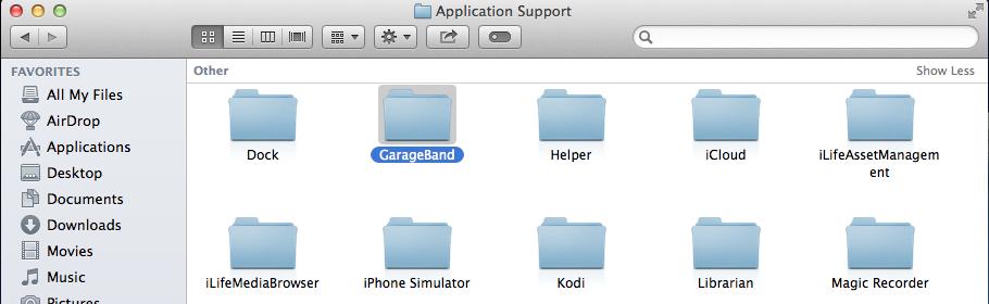 GarageBand support files