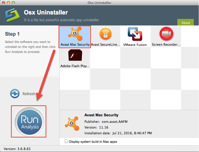 uninstall Avast Free Mac Security 2015