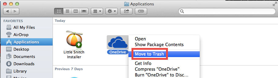 Uninstall OneDrive for Mac (3)