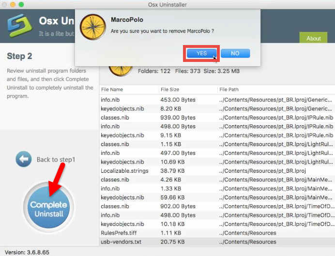 Uninstall MarcoPolo using Osx Uninstaller (2)
