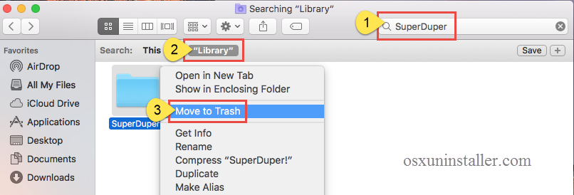uninstall SuperDuper on Mac