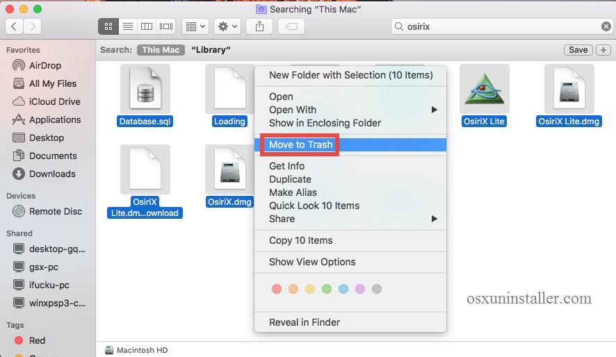 Osx Uninstaller - uninstall OsiriX on Mac