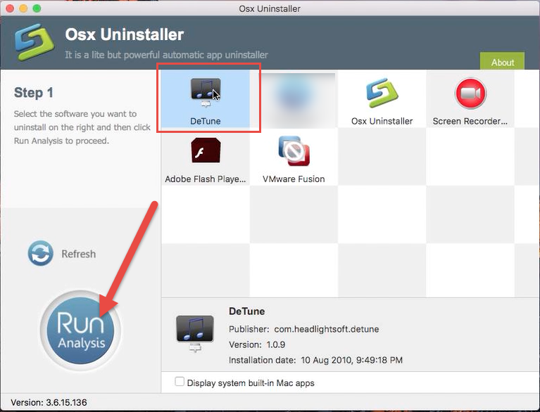 remove DeTune with Osx Uninstaller