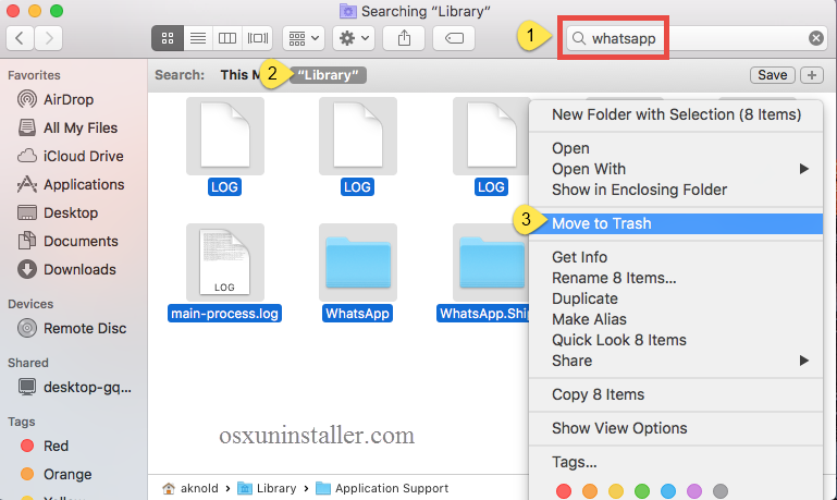 Uninstall Whatsapp on Mac - Osx Uninstaller (10)