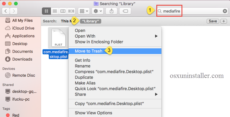osx how to empty application caches