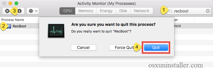 Uninstall RecBoot on Mac - Osx Uninstalelr (3)