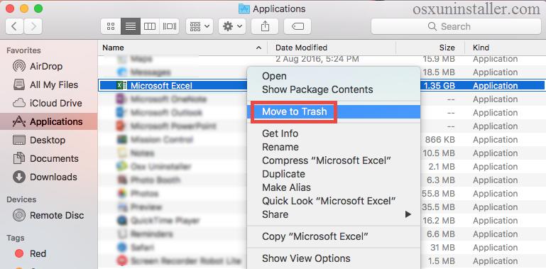 uninstall Microsoft Excel 2016 on macOS - osxuninstaller (2)
