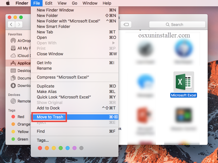 How to Fully Uninstall Microsoft Excel 2016 from Mac