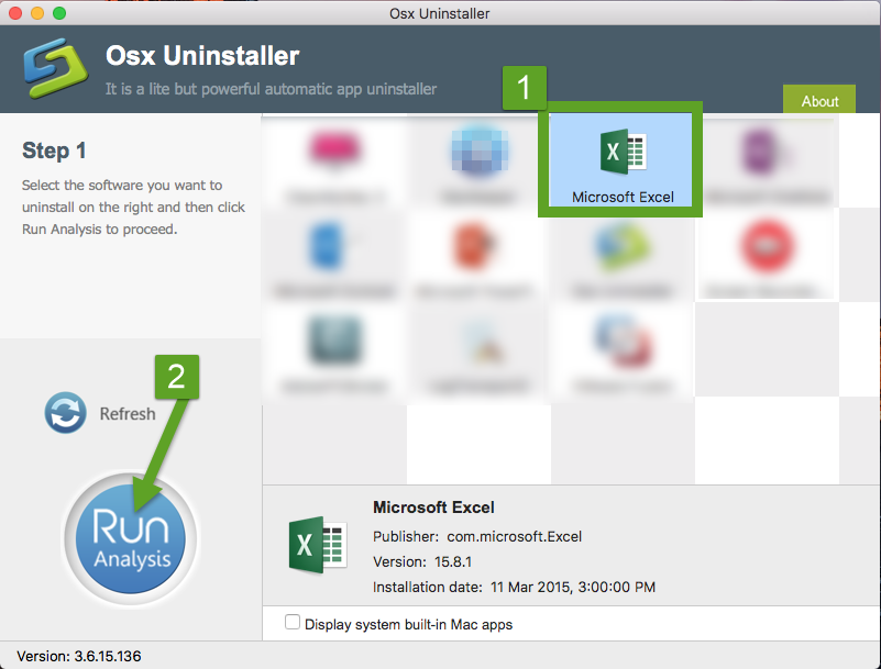 uninstall Microsoft Excel 2016 with Osx Uninstaller (1)