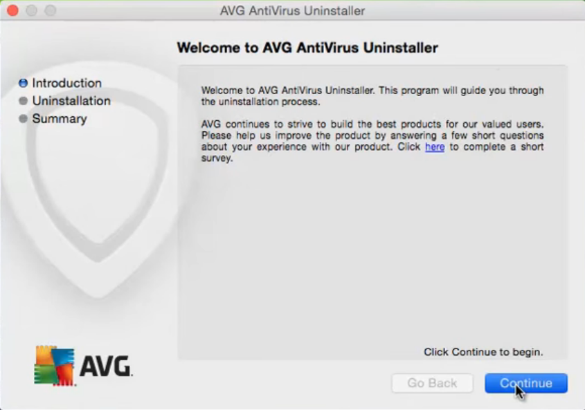 uninstall avg antivirus for mac