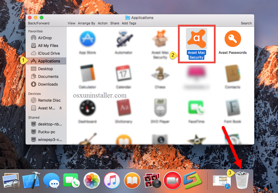 Manually Uninstall Avast Mac Security - osxuninstaller (1)