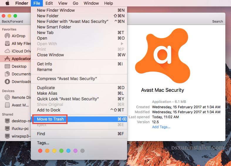 Manually Uninstall Avast Mac Security - osxuninstaller (3)