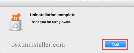 Uninstall Avast Mac Security - osxuninstaller (5)