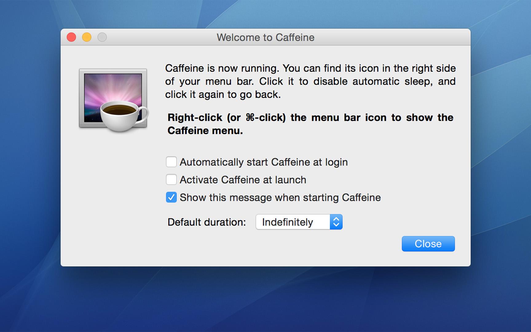 Программа caffeine скачать