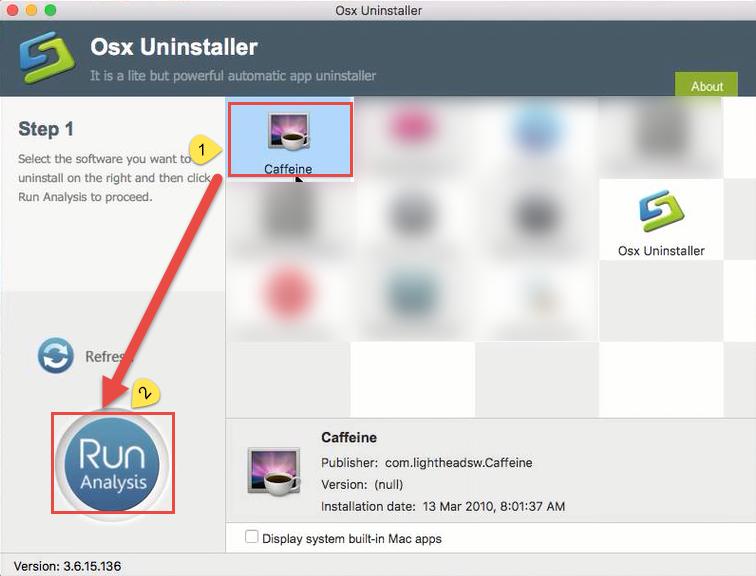 remove Caffeine on Mac with step 1