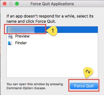 force quit applicatiopn