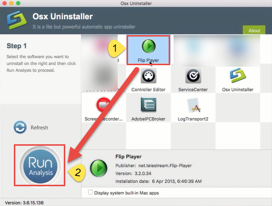uninstall Flip Player for Mac step1