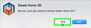 uninstall Sweet Home 3D for Mac with step2.0
