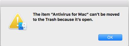 Cannot trash