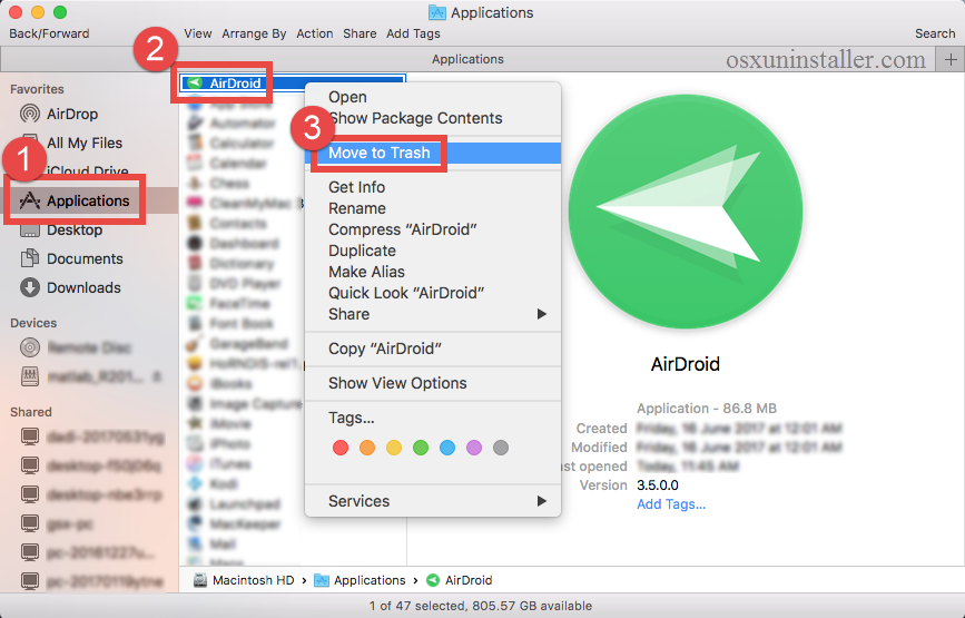 How to uninstall Airdroid on Mac - osxuninstaller (5)
