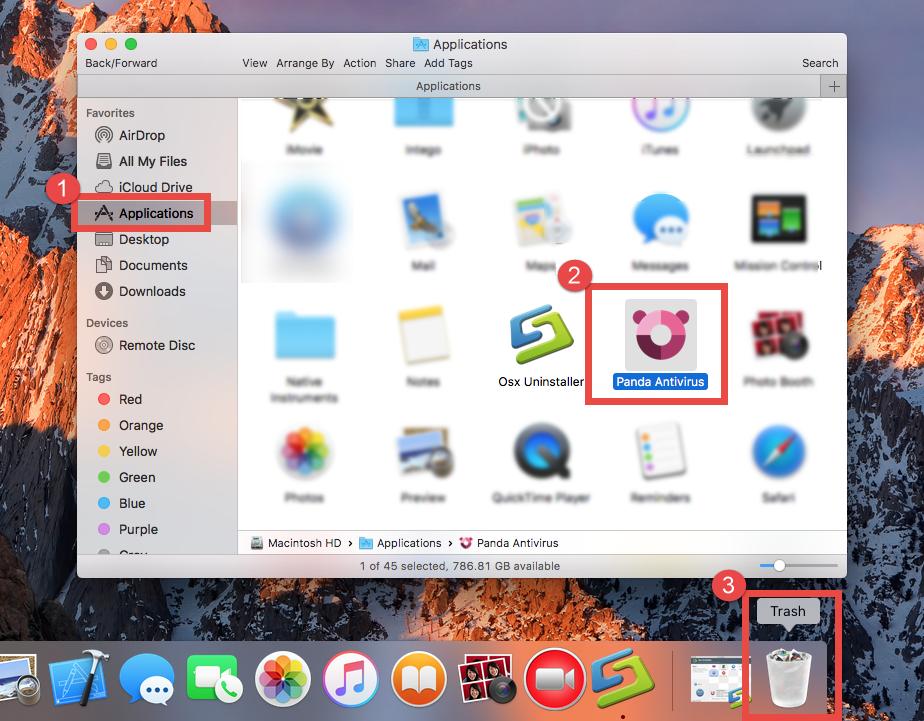 Uninstall Panda Antivirus from Applications folder (1)