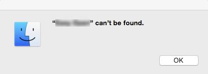 cannot found - mac