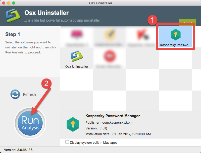 Easily Uninstall Kaspersky Password Manager with Osx Uninstaller (1)