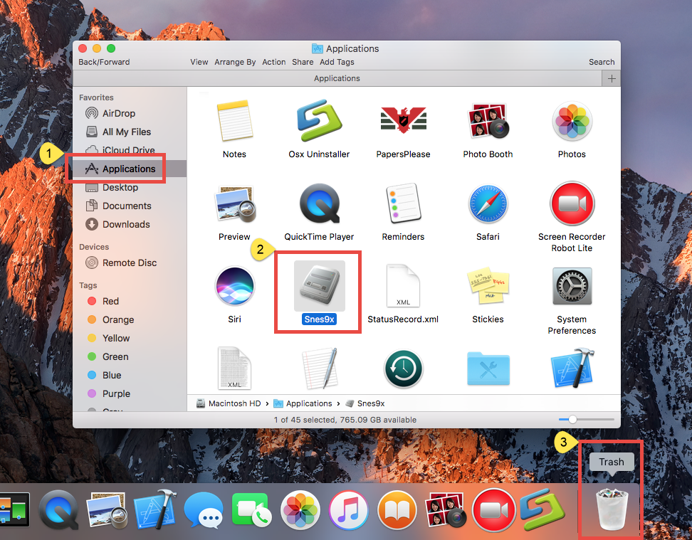 Take Simple Clicks to Uninstall Snes9x on Mac