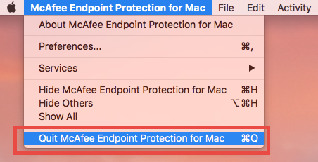 Quit McAfee Endpoint Protection for Mac (1)
