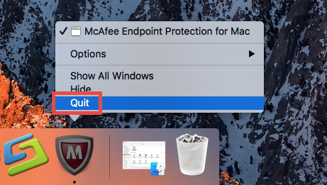 Quit McAfee Endpoint Protection for Mac (2)