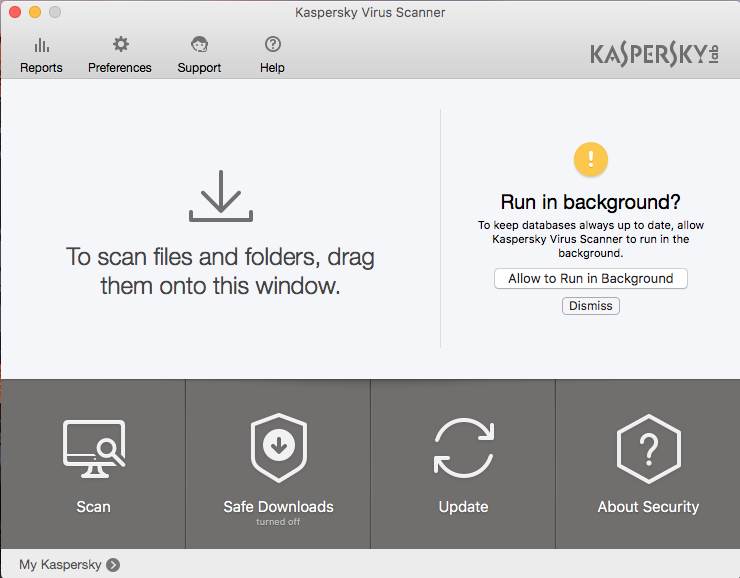 Uninstall Kaspersky Virus Scanner for Mac