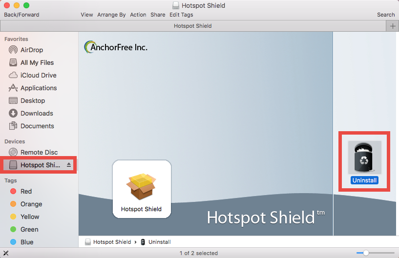 how to use hotspot shield on mac