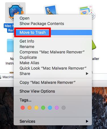 move to trash