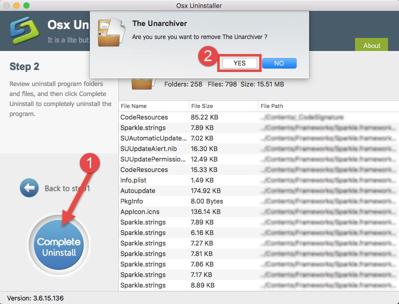 uninstall The The Unarchiver for Mac - osxuninstaller (6)