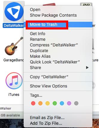 Remove DeltaWalker for Mac