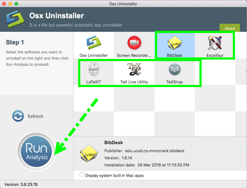 Totally Remove MacTeX with all Component apps by Osx Uninstaller