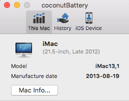 Uninstall coconutBattery on Mac