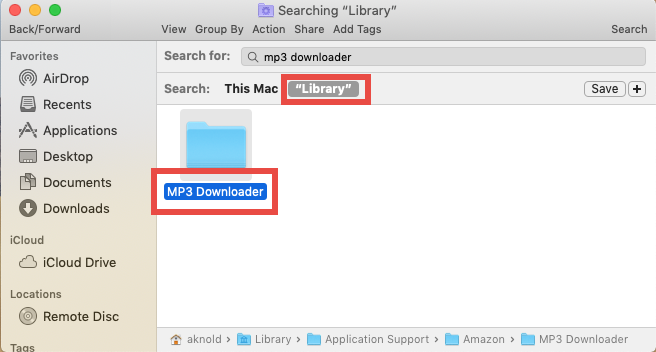Completely Remove Amazon MP3 Downloader for Mac