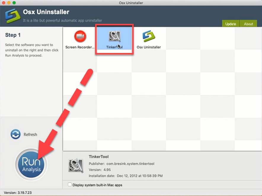 uninstall TinkerTool