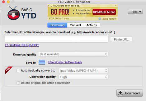 uninstall YTD for Mac
