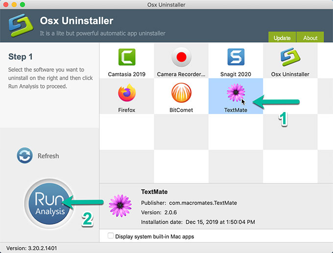 uninstall TextMate with Osx Uninstaller